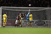 A fantastic save from MK Dons keeper David Martin denies Northampton Town a late winner during the The FA Cup match between Northampton Town and Milton Keynes Dons at Sixfields Stadium, Northampton, England on 9 January 2016. Photo by Dennis Goodwin.