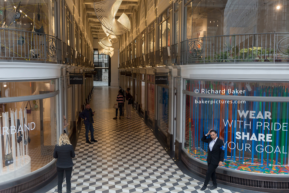The entrance of Quadrant Arcade on Regent Street, on 30th May 2019, in London, England.
