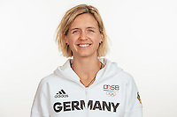 Laura Ludwig poses at a photocall during the preparations for the Olympic Games in Rio at the Emmich Cambrai Barracks in Hanover, Germany, taken on 19/07/16   usage worldwide