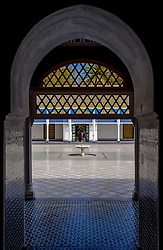 A courtyard in the Bahia Palace in Marrakech, Morocco, North Africa<br /> <br /> (c) Andrew Wilson | Edinburgh Elite media