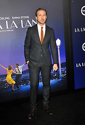 Ryan Gosling at the Los Angeles premiere of 'La La Land' held at the Mann Village Theatre in Westwood, USA on December 6, 2016.