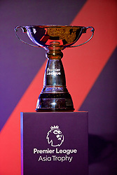 HONG KONG, CHINA - Tuesday, July 18, 2017: The trophy on display during a press conference at the Grand Hyatt Hotel Hong Kong ahead of the Premier League Asia Trophy 2017. (Pic by David Rawcliffe/Propaganda)