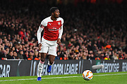 Arsenal Midfielder Ainsley Maitland-Niles (15) during the Europa League group stage match between Arsenal and Sporting Lisbon at the Emirates Stadium, London, England on 8 November 2018.