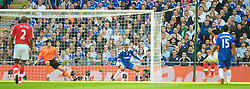 LONDON, ENGLAND - Saturday, April 18, 2009: A deflection of Chelsea's Ashley Cole hand hands Arsenal's Theo Walcott the opening goal during the FA Cup Semi-Final match at Wembley. (Photo by: David Rawcliffe/Propaganda)