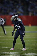 Tennessee Titans cornerback Adoree' Jackson (25) in action during the week 14 regular season NFL football game against the Jacksonville Jaguars on Thursday, Dec. 6, 2018 in Nashville, Tenn. The Titans won the game 30-9. (©Paul Anthony Spinelli)