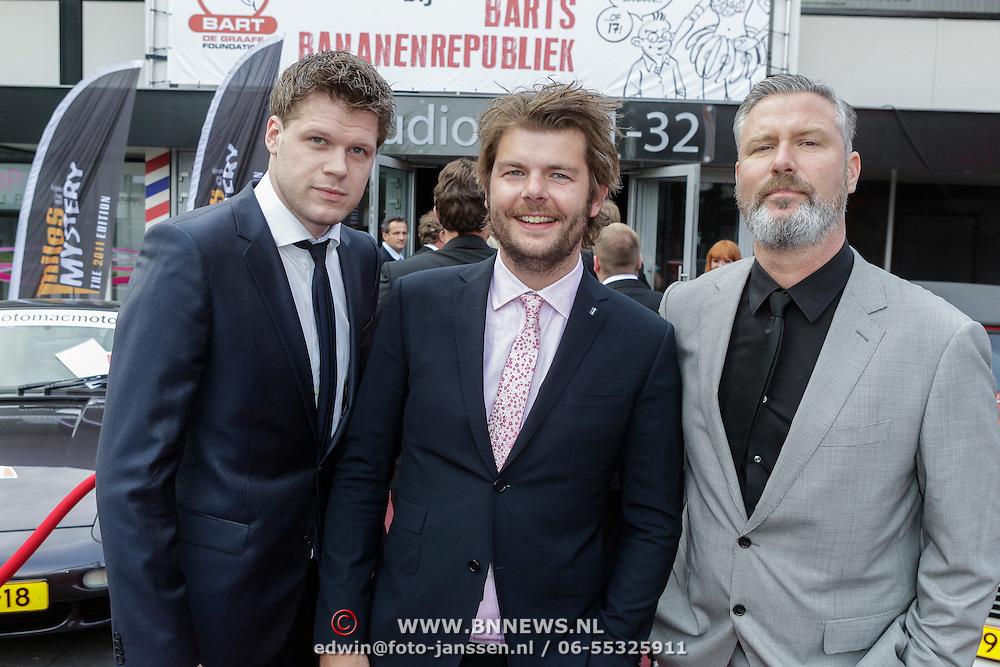 NLD/Hilversum/20120521 - Gala bij 10 jarig overlijden Bart de Graaff, Eric Corton, Koen Swijnenberg en Sander Lantinga