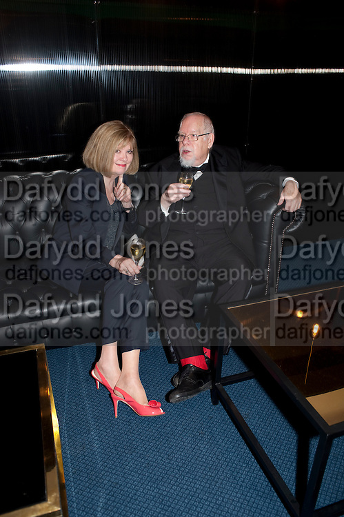 LADY BLAKE; SIR PETER BLAKE; , GQ Man of the Year awards. The royal Opera House. Covent Garden. London. 6 September 2011. <br /> <br />  , -DO NOT ARCHIVE-© Copyright Photograph by Dafydd Jones. 248 Clapham Rd. London SW9 0PZ. Tel 0207 820 0771. www.dafjones.com.