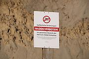 Sylt, Germany. Hörnum-Odde, Sylt's Southern tip. Swimming forbidden!