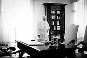 Portrait of Pope Francis in his private study at the Vatican. Aug 29th 2013