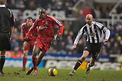 Newcastle, England - Saturday, February 10, 2007: Liverpool's Mohamed Sissoko in action against Newcastle United during the Premiership match at St James' Park. (Pic by David Rawcliffe/Propaganda)