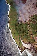 Lava flow into Kalapana, Kilauea Volcano,  Big Island of Hawaii