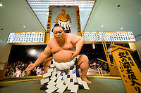 The Kita no Umi Sumo Museum is dedicated to a former grand champion of Sumo who came from the local area. Here a life-size model poses in a sumo ring.