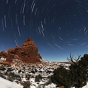 Circumpolar photography in Arches National Park.