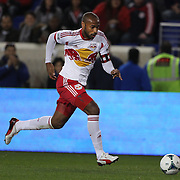 Thierry Henry, New York Red Bulls, in action during the New York Red Bulls V Chicago Fire, Major League Soccer regular season match at Red Bull Arena, Harrison, New Jersey. USA. 27th October 2013. Photo Tim Clayton