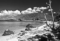 A rocky beach at Culebra