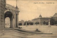 Zagreb (Croatie) : Sveučilišni trg. <br /> <br /> ImpresumZagreb : Svjetlotiskarski zavod R. Mosinger, [između 1904 i 1912].<br /> Materijalni opis1 razglednica : tisak ; 8,7 x 13,7 cm.<br /> NakladnikSvjetlotiskarski zavod R. Mosinger<br /> Mjesto izdavanjaZagreb<br /> Vrstavizualna građa • razglednice<br /> ZbirkaGrafička zbirka NSK • Zbirka razglednica<br /> Formatimage/jpeg<br /> PredmetZagreb –– Trg Republike Hrvatske<br /> Hrvatsko narodno kazalište (Zagreb)<br /> SignaturaRZG-TMT-8<br /> NapomenaRazglednica nije putovala.<br /> PravaJavno dobro<br /> Identifikatori000953128<br /> NBN.HRNBN: urn:nbn:hr:238:442826 <br /> <br /> Izvor: Digitalne zbirke Nacionalne i sveučilišne knjižnice u Zagrebu