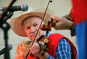 Southern Arizona Old Time Fiddlers perform at Tucson Meet Yourself, a multi-cultural festival in Tucson, Arizona, USA.