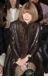 © Licensed to London News Pictures. 18 February 2014, London, England, UK. American Vogue editor Anna Wintour attends the Simone Rocha show during London Fashion Week AW14 at the Topshop Show Space/Tate Modern. Photo credit: Bettina Strenske/LNP