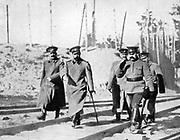 Grand Duke Nicholas and Tsar Nicholas II of Russia inspect troops 1915