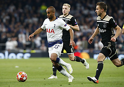 April 30, 2019 - London, England, United Kingdom - Tottenham Hotspur's Lucas.during UEFA Championship League Semi- Final 1st Leg between Tottenham Hotspur  and Ajax at Tottenham Hotspur Stadium , London, UK on 30 Apr 2019. (Credit Image: © Action Foto Sport/NurPhoto via ZUMA Press)