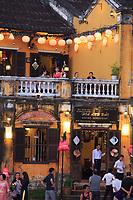 Twilight over the Sakura Restaurant on Bach Dang street in Hoi An, Vietnam