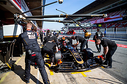 February 28, 2019 - Montmelo, Barcelona, Calatonia, Spain - Kevin Magnussen and team mates of Rich Energy Haas F1 Team seen in action during the second week F1 Test Days in Montmelo circuit, Catalonia, Spain. (Credit Image: © Javier Martinez De La Puente/SOPA Images via ZUMA Wire)