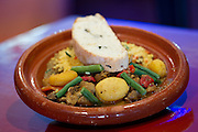 Tagine of the day with cous cous and grilled house baked bread. Moorish, Knuckey Street Darwin. Photo Shane Eecen