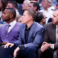 11 November 2017: Orlando Magic Assistant Coach Chad Forcier is seen next to Orlando Magic head coach Frank Vogel during the Denver Nuggets 125-107 victory over the Orlando Magic, at the Pepsi Center, Denver, Colorado, USA.