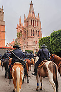 Mexican mounted police ride their horses in a parade to celebrate the 251st birthday of the Mexican Independence hero Ignacio Allende January 21, 2020 in San Miguel de Allende, Guanajuato, Mexico. Allende, from a wealthy family in San Miguel played a major role in the independency war against Spain in 1810 and later honored by his home city by adding his name.