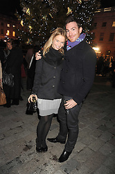 THOMAS BUNN and  at the opening of the Somerset House ice Rink for 2008 sponsored by Tiffany & Co held at Somerset House, The Strand, London on 18th November 2008.