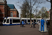 Taking the piss - blue study, Leidseplein, Amsterdam.