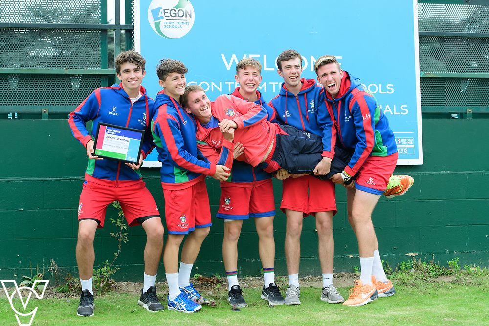 Millfield School<br /> <br /> Team Tennis Schools National Championships Finals 2017 held at Nottingham Tennis Centre.  <br /> <br /> Picture: Chris Vaughan Photography for the LTA<br /> Date: July 14, 2017