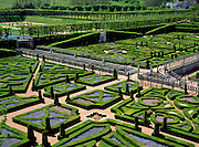 Garden at Villandry Chateau, Indre-et-Loire, Loire Valley, France.