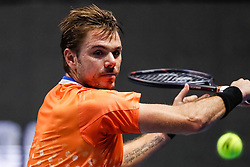 September 22, 2018 - Saint Petersburg, Russia - Stan Wawrinka of Switzerland returns the ball to Martin Klizan of Slovakia during their St. Petersburg Open 2018 semi final tennis match on September 22, 2018 in Saint Petersburg, Russia. (Credit Image: © Mike Kireev/NurPhoto/ZUMA Press)