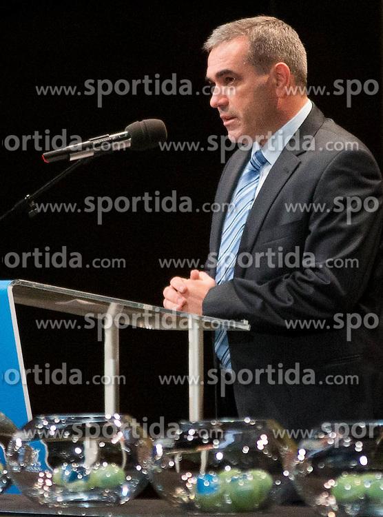 Slovenian Basketball Federation President Roman Volcic during FIBA Europe Eurobasket 2013 draw ceremony on November 18, 2012 in Postojna cave, Postojna, Slovenia. (Photo By Vid Ponikvar / Sportida)