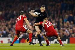 New Zealand Inside Centre Sonny Bill Williams is tackled by Georgia Inside Centre Tamaz Mchedlidze - Mandatory byline: Rogan Thomson/JMP - 07966 386802 - 02/10/2015 - RUGBY UNION - Millennium Stadium - Cardiff, Wales - New Zealand v Georgia - Rugby World Cup 2015 Pool C.