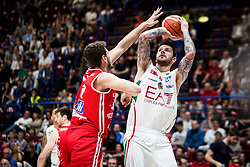 April 29, 2018 - Milan, Milan, Italy - Vladimir Micov (#5 EA7 Emporio Armani Milano) shoots a layup during a basketball game of Poste Mobile Lega Basket A between  EA7 Emporio Armani Milano vs VL Pesaro at Mediolanum Forum, in Milan, Italy, on April 29, 2018. (Credit Image: © Roberto Finizio/NurPhoto via ZUMA Press)
