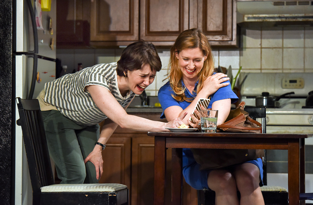 "Photo by Mara Lavitt<br /> New Haven, CT<br /> April 26, 2017<br /> Technical rehearsal for Yale Repertory Theatre's production of ""Mary Jane."" Emily Donahoe, left, and Miriam Silverman."