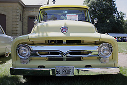 03 August 2013:  1956 Ford F100 Pickup<br /> <br /> Displayed at the McLean County Antique Automobile Association Car show at David Davis Mansion in Bloomington Illinois