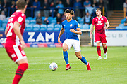 Macclesfield Town defender Theo Vassell in action during the EFL Sky Bet League 2 match between Macclesfield Town and Morecambe at Moss Rose, Macclesfield, United Kingdom on 20 August 2019.