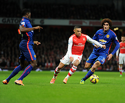 Arsenal's Alex Oxlade-Chamberlain goes on the attack. - Photo mandatory by-line: Alex James/JMP - Mobile: 07966 386802 - 22/11/2014 - Sport - Football - London - Emirates Stadium - Arsenal v Manchester United - Barclays Premier League