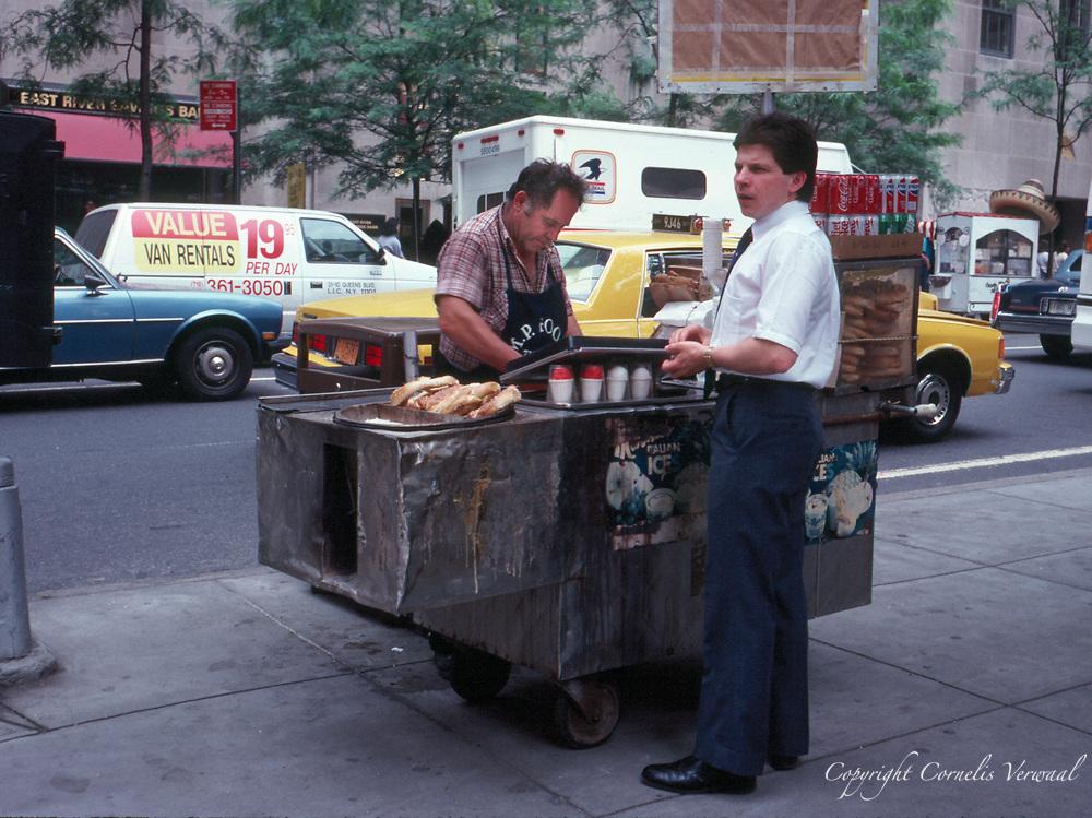 Pretzel and icecream vendor near Rockefeller Center
