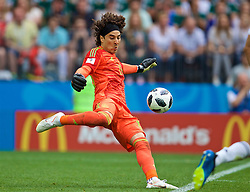 MOSCOW, RUSSIA - Sunday, June 17, 2018: Mexico's goalkeeper Guillermo Ochoa during the FIFA World Cup Russia 2018 Group F match between Germany and Mexico at the Luzhniki Stadium. (Pic by David Rawcliffe/Propaganda)