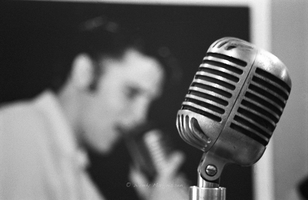 Close-up of the microphone in Sun Studio, used to record legendary songs by Elvis and many others. Memphis, 2004
