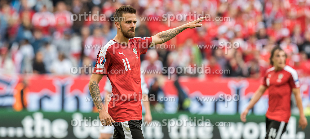 14.06.2016, Stade de Bordeaux, Bordeaux, FRA, UEFA Euro, Frankreich, Oesterreich vs Ungarn, Gruppe F, im Bild Martin Harnik (AUT) // Martin Harnik (AUT) during Group F match between Austria and Hungary of the UEFA EURO 2016 France at the Stade de Bordeaux in Bordeaux, France on 2016/06/14. EXPA Pictures © 2016, PhotoCredit: EXPA/ JFK