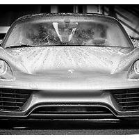 Porsche 918 Spyder on display in the Paddocks. British GT Championships at Rockingham