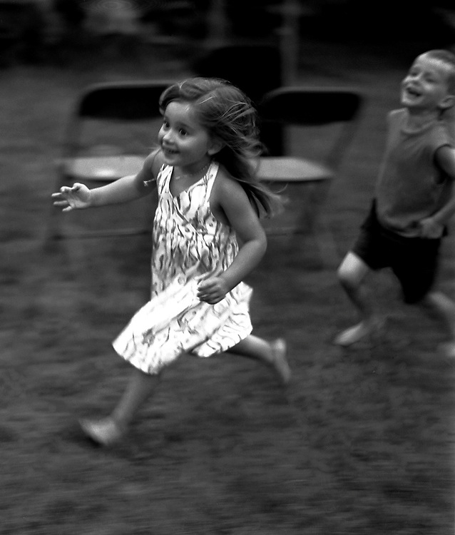 Little Girl and Brother at Jeff's Wedding
