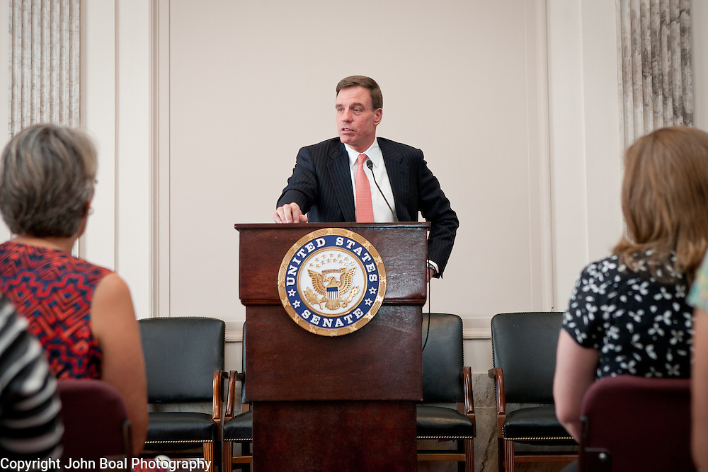 Virginia Center for Excellence in Teaching participants listened to and asked questions for U.S. Senators from VA, Mark Warner and Tim Kaine, on Wednesday, June 25, 2014.  John Boal Photography