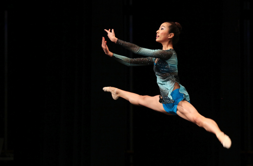 Younji-Grace Choi , 16, performs in the Senior Contemporary Group during the The Youth American Grand Prix Semi-Regionals at Zionsville High School Saturday March 9, 2013..Photo by Chris Bergin.