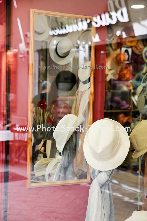 window display of a hat shop, Nice, France